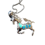 Pendentif cheval - bleu