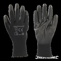 gants de protection noir PU